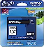 brother 兄弟 原装P-touch TZE-335标签胶带,1/2英寸/约1.27厘米(0.47英寸/约1.19厘…