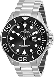 Invicta 男式 Pro Diver 石英潜水手表不锈钢表带,银色,24(型号:28765