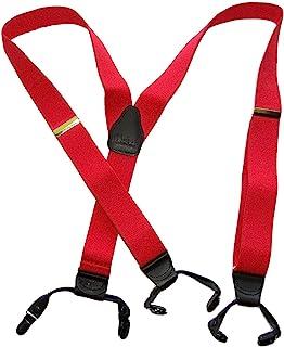 hold-ups 消防车红色双夹背带带防滑黑色夹