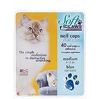 Soft Claws Blue Cat Nail Caps 蓝色 中