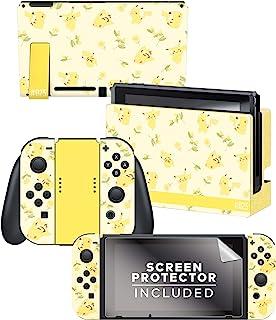 Controller Gear 正品和*任天堂 Switch Skin & 屏幕保护膜套装 A - Pikachu Floral Set 1