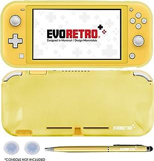 EVORETRO GRIP 适用于 Nintendo Switch Lite - TPU 保护性便携式保护套配件,带笔和拇指棒,兼容 Switch Lite 控制台(黄色)