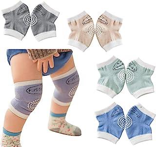 4 对中性款婴儿膝垫用于爬行防滑护膝适用于婴儿男孩女孩爬行*保护垫