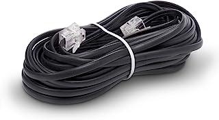 The CIMPLE CO - 电话线 - 模块化电话延长线 - 2 根导体(2 针,1 线)电缆 - 与 HP FAX、Brother AIO 和其他设备完美搭配 黑色 25 Feet Cord (7.5 Meter) CMP-CBL-PH...