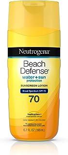 Neutrogena 露得清 海滩防晒乳,SPF 70,6.7盎司,198毫升