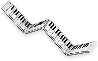 Blackstar 便携式折叠钢琴 | 88 键便携式钢琴,内置 USB 可充电电池和 MIDI over USB 128 声音钢琴键盘 1.6 千克 33 厘米,BA203010