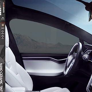 MotoShield Pro 高级 2 毫米陶瓷车窗贴膜 适用于自动 - 24 英寸 x 10 英尺 (25%) [99% 红外热降低/阻挡 99% 紫外线] 窗膜卷