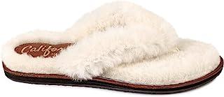 Californians Mia 女士奶油羊毛拖鞋 美国制造