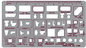 Pickett 等轴测六角螺母和头模板 3 Lavatory Planning - 1/4 inch