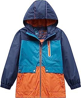 KID1234 男孩轻质防雨夹克快干防水连帽外套