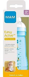 MAM Easy Active 饮水瓶(270 毫升),婴儿饮水瓶,包括 MAM 奶嘴,尺寸为1,由SkinSoft 硅胶制成,带符合人体工程学的形状,0+个月,兔子