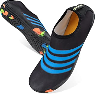 MOEMOE BABY 新款男式涉水鞋带排水孔水鞋硬底女士儿童涉水鞋赤脚速干水袜沙滩鞋游泳鞋