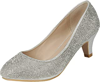 Forever Link Jemma-31 女士中跟宝石水钻一脚蹬高跟鞋