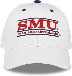 SMU Mustangs 成人游戏栏可调节帽子 - 白色,