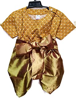 PKC_T 恤传统亚洲服装男孩童装复古布男孩丝绸民族身份刺绣 TS011