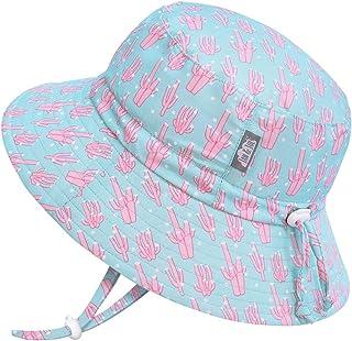 JAN & JUL GRO-with-Me Aqua-Dry 太阳帽,适合幼儿女孩,50+ UPF,可调节肩带