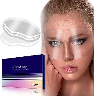 (100 片) 透明一次性面罩自粘面部膜盖保护遮阳板 *沙龙淋浴化妆 剪毛微刀片 睫毛延长 眼睑 *后护理
