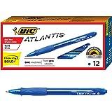 BIC Velocity Bold Retractable Ball Pen, Bold Point (1.6mm…