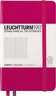 LEUCHTTURM1917 灯塔口袋型方格笔记本玫红硬封皮(A6)