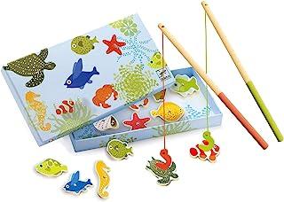 Djeco 磁性钓鱼游戏,热带
