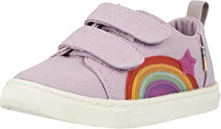 TOMS 女童玛丽珍鞋(幼儿/小童) Burnished Lilac Star Rainbow Canvas/Translucent 5 Toddler
