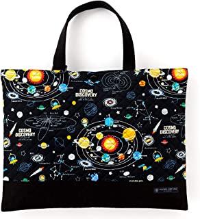 书包(绗缝) 绘本袋 手工 外卖包 太阳系行星和宇宙宇宙宇宙星星(黑色) N0239900