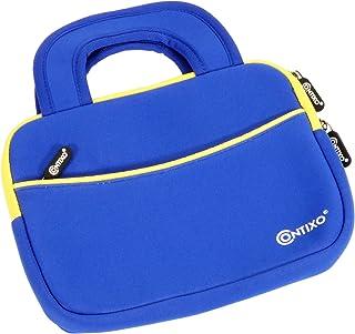 Contixo 10 英寸平板电脑内胆包兼容 Contixo K101 儿童平板电脑,Amazon Fire HD 10 儿童版,Kindle Fire HD 10.1 英寸带配件口袋(深蓝色)