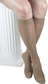 gabrialla sheer knee highs, compression(20-22 mmhg),米色,小号,3 count