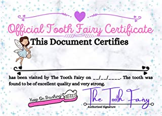 EXCELSIOR MERCANTILE 女孩牙齿仙女证书,10 包