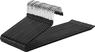 SONGMICS 20/40/100 件金属衣架 钢丝橡胶 防滑 黑色 20 Stück CRI004-20