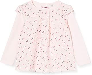 Sanetta 女婴 Fiftyseven 衬衫 女孩 浅粉色与这款长袖 T 恤彩色心形印花