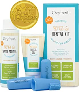 Oxyfresh 高级宠物*套装 来自 Fight Bad Breath in Dogs & Cats - 简单*有效解决方案 - 旅行装 - 无味宠物牙膏、宠物指刷和宠物水添加剂