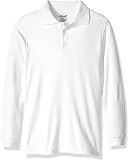 Classroom School Uniforms 男孩青年中性款长袖双面布 Polo 衫