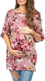 女式孕妇束腰外衣,荷叶边袖