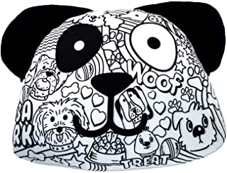 iscream Color Me!狗狗形状 35.56 厘米 x 33.02 厘米着色枕头,带 6 个织物刻度口袋