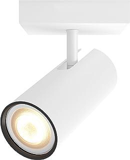 Philips 飞利浦 Hue LED Buratto 拓展版射灯 可调光,全白色阴影可调,可通过App控制,兼容Amazon Alexa (Echo,Echo Dot),白色