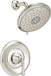 American Standard Delancey 水洗淋浴装饰套件 亮灰色(Polished Nickel)