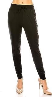 Eevee 女式休闲慢跑裤运动裤 – 弹性腰部抽绳锥形口袋 柔软跑步锻炼瑜伽运动