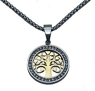 Uilita 3D 吊坠项链 幸运树混合颜色 14K 金项链 男士项链 女士颈链 礼品