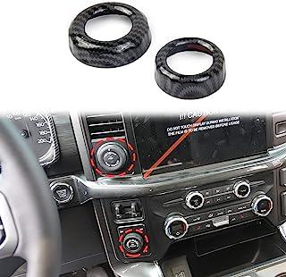 碳纤维CD空调开关按钮旋钮装饰装饰配件适用于福特 F150 2021+
