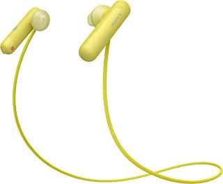 Sony 索尼 WI-SP500 无线运动耳机(蓝牙,IPX4防水,8小时的电池续航,免提功能),黄色