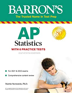 AP Statistics with 6 Practice Tests (Barron's Test Prep) (English Edition)