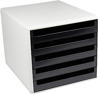 """Metzger & Mendle 30050901BE 抽屉盒带 5 个抽屉回收认证""""蓝色天使""""黑色"""