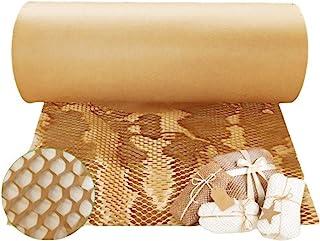 保护纸缓冲牛皮纸包裹环保蜂窝,用于包装和移动气泡替代品 15 英寸 x 164 英尺