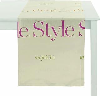 Apelt Typo_48 x 140_30 桌巾白色印花帆布带彩色书写