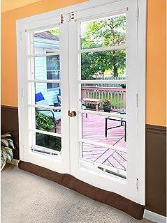 HOME DISTRICT 法式门挡泥板 - 加重门窗微风防护,噪音阻隔器,昆虫塞 - 152.4 厘米长 - 浅棕色