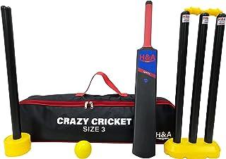 H&A Sports 儿童塑料板球套装 尺寸 3 和 5