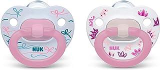 NUK 矫正奶嘴,女孩,18-36 个月,2 只装