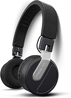 TREBLAB BT5 – 高级头戴式无线耳机 – 高强度高清音效 w/蓝牙 5.0 头戴式麦克风,防水 IPX4 适用于运动、旅行、工作。 24小时游戏,无源降噪