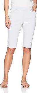 Napa Valley 女式娇小尺寸超弹力修身解决方案套穿式浅口短裤 白色 14 Petite